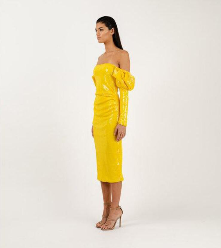 Meraki Official VALERIE Yellow Dress