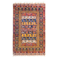 Suzani Afshar Hand-Knotted Rug (7.2 x 6.4)