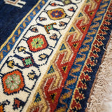"Persian Hand-Knotted Shiraz Rug (8' 11"" x 5' 1"")"
