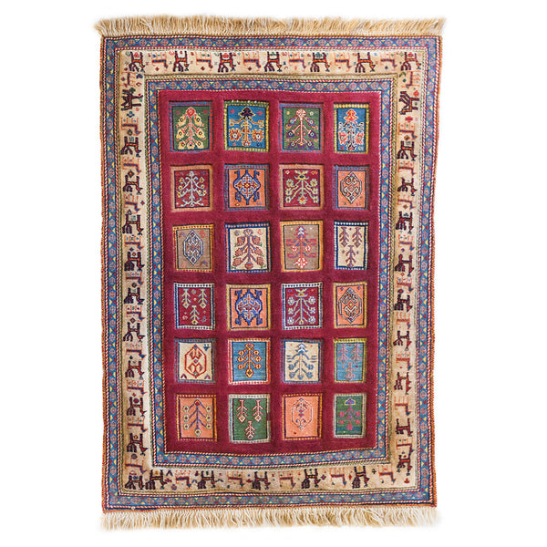 "Sirjan Hand-Knotted Rug (4' 6"" x 3' 3"")"