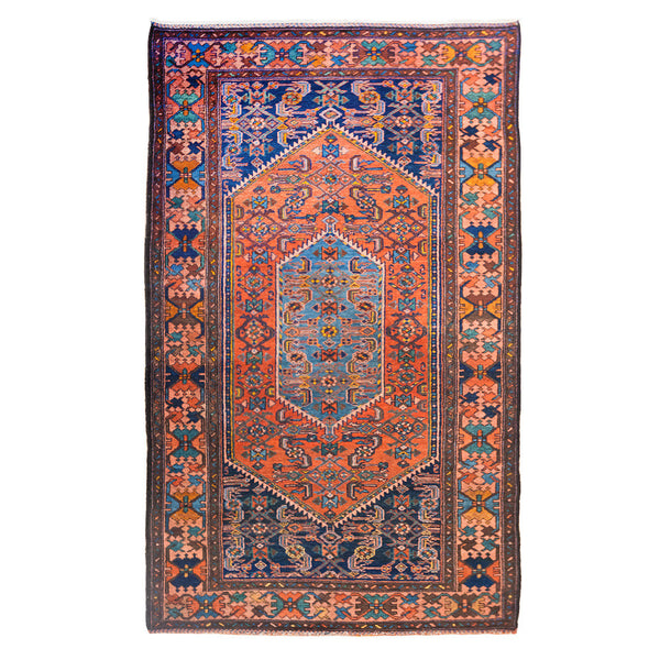 Antique Persian Bijar Hand-Knotted Rug