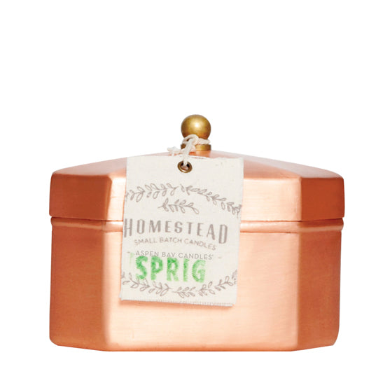 Sprig Octagon Tea Tin
