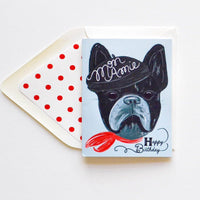 Mon Amie French Bull Dog Birthday Card