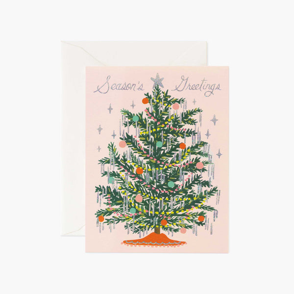 Tinsel Tree Christmas Card