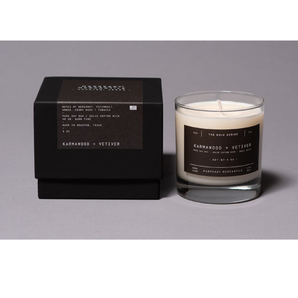 Bold Series: Karmawood & Vetiver Candle
