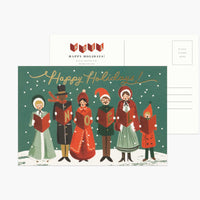 Carolers Christmas Postcard Set
