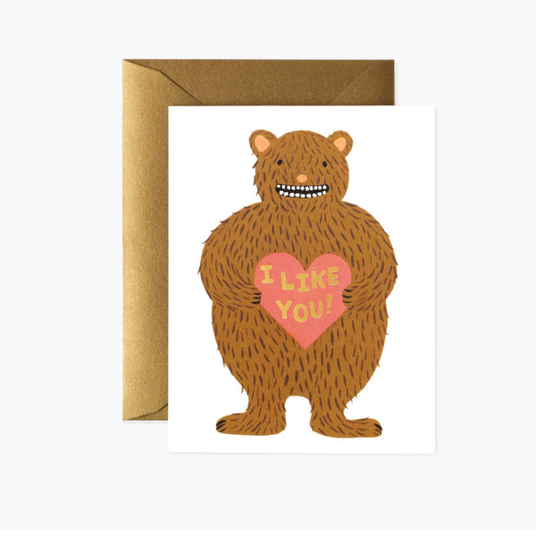 I Like You Greeting Card