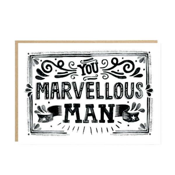 Marvelous Man Card