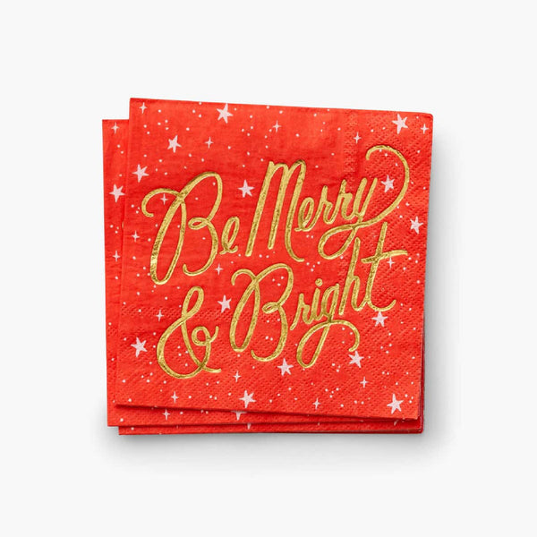Be Merry and Bright Cocktail Napkins