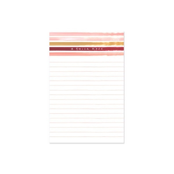 Sunset Stripe Notepad