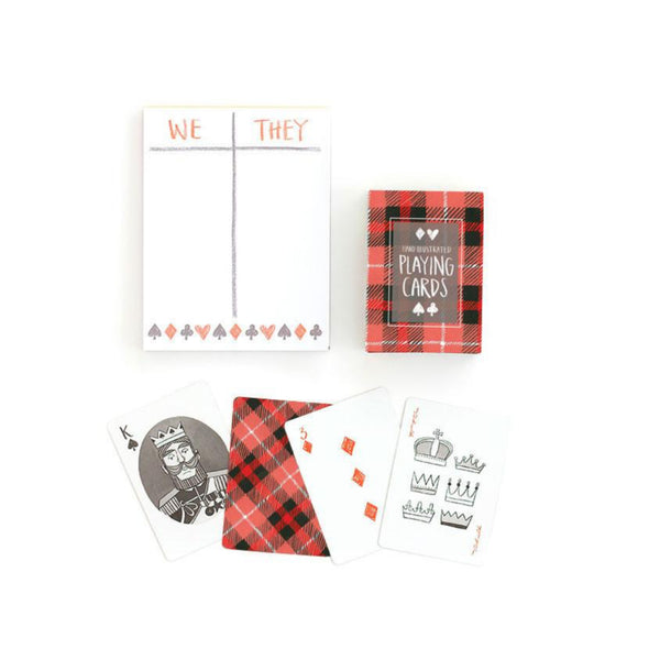 Plaid Playing Card Set