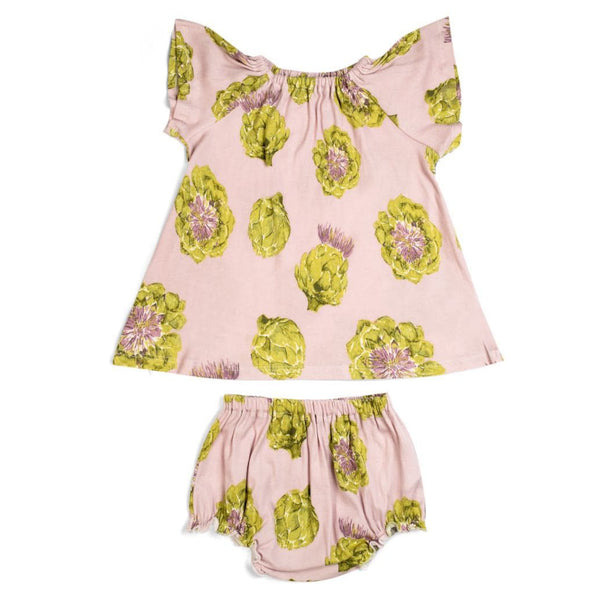 Milkbarn Dress & Bloomer Set