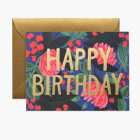 Floral Foil Birthday Card