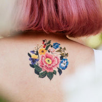 Stitched Bouquet Temporary Tattoo