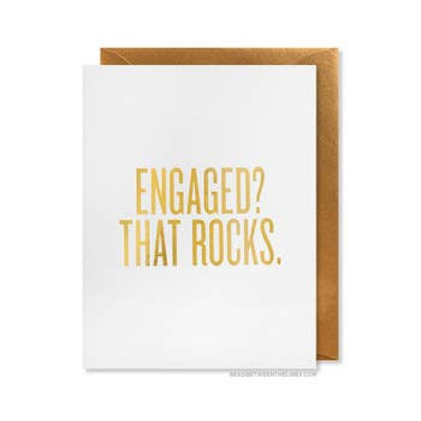 Engaged? That Rocks. Card