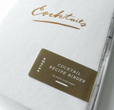 Cocktail Recipe Binder