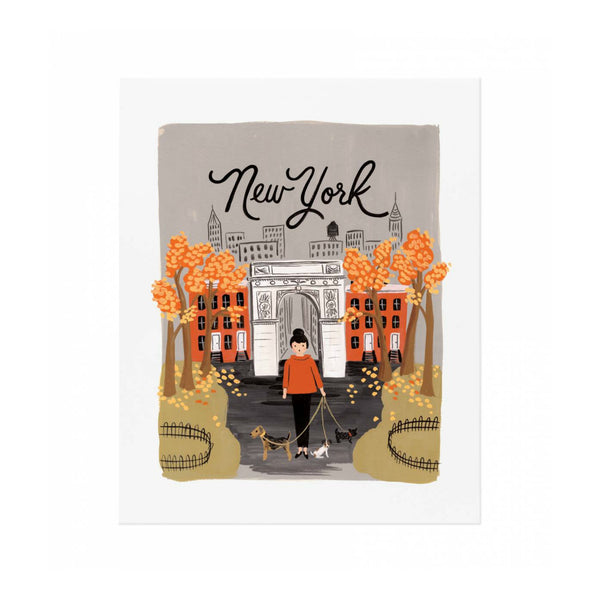 New York Autumn Art Print