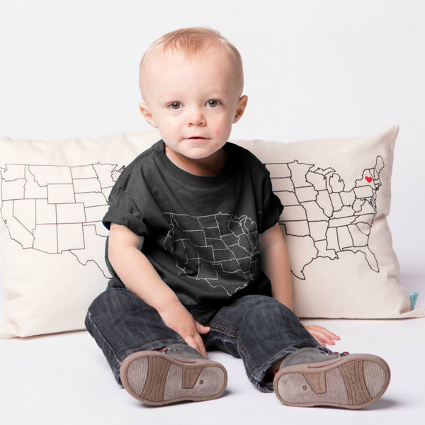 Kids Map T-Shirt, Texas