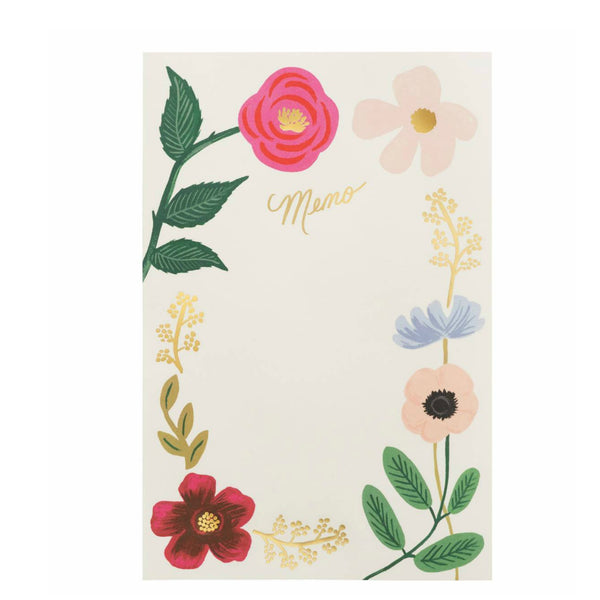 Wildflowers Weekly Notepad