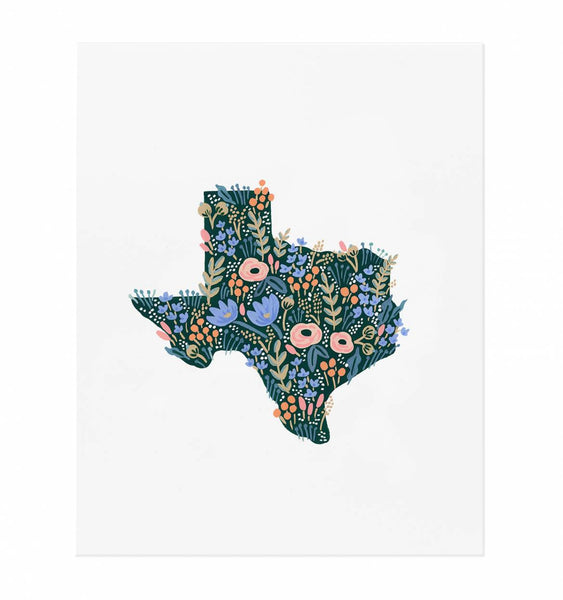 Texas Wildflowers Art Print