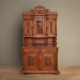 Antique French Walnut Serving Cabinet