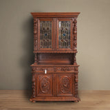 Antique German Hunt Cabinet