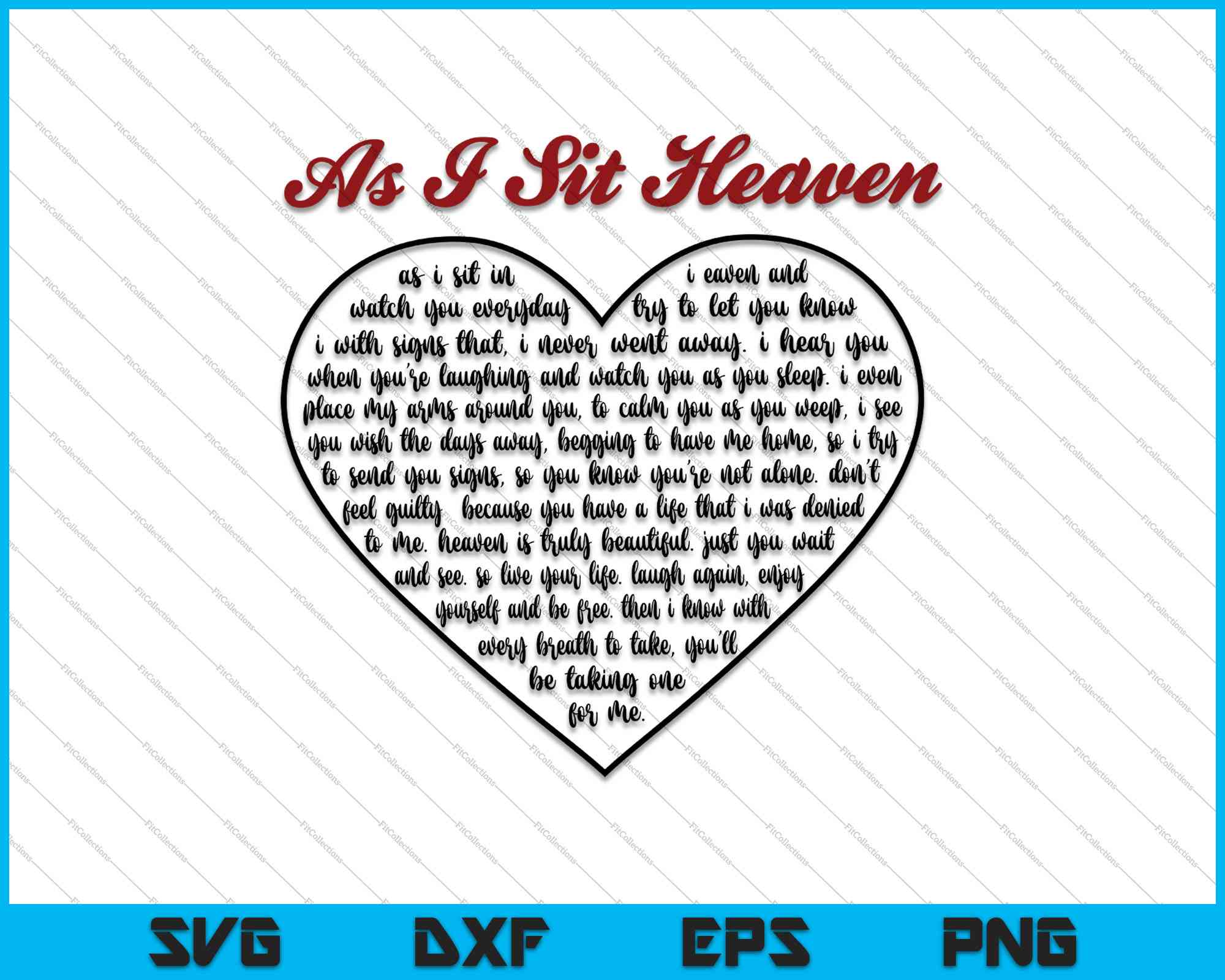 Download As I Sit In Heaven Poem Svg Png Files Creativeusarts