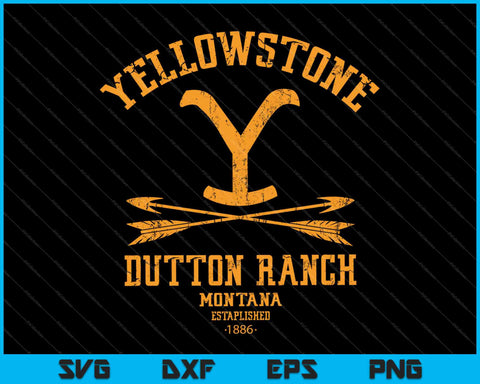 Yellowstone Dutton Ranch Arrows SVG PNG Cutting Printable Files