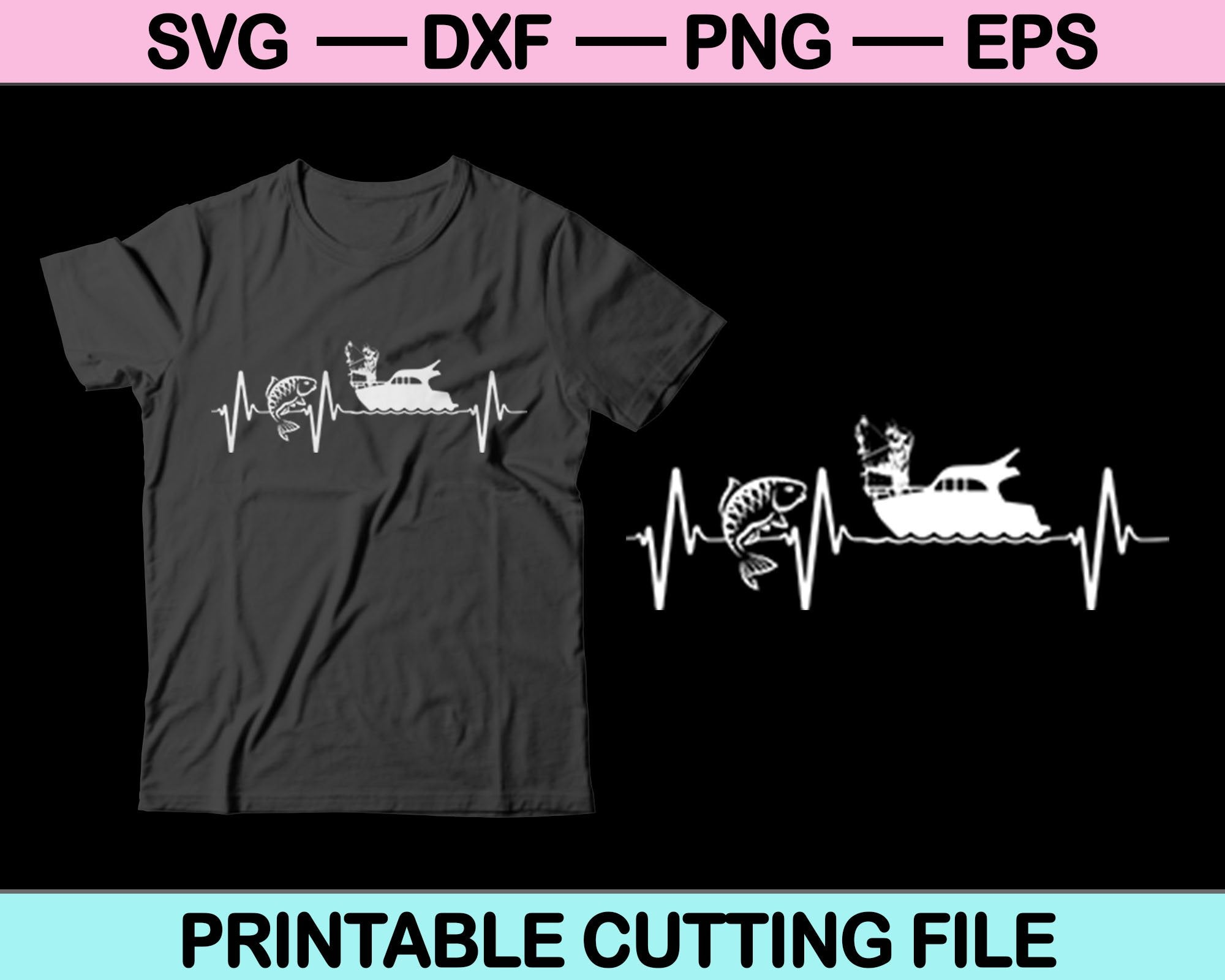 Download Fishing Heartbeat Svg Files Creativeusarts