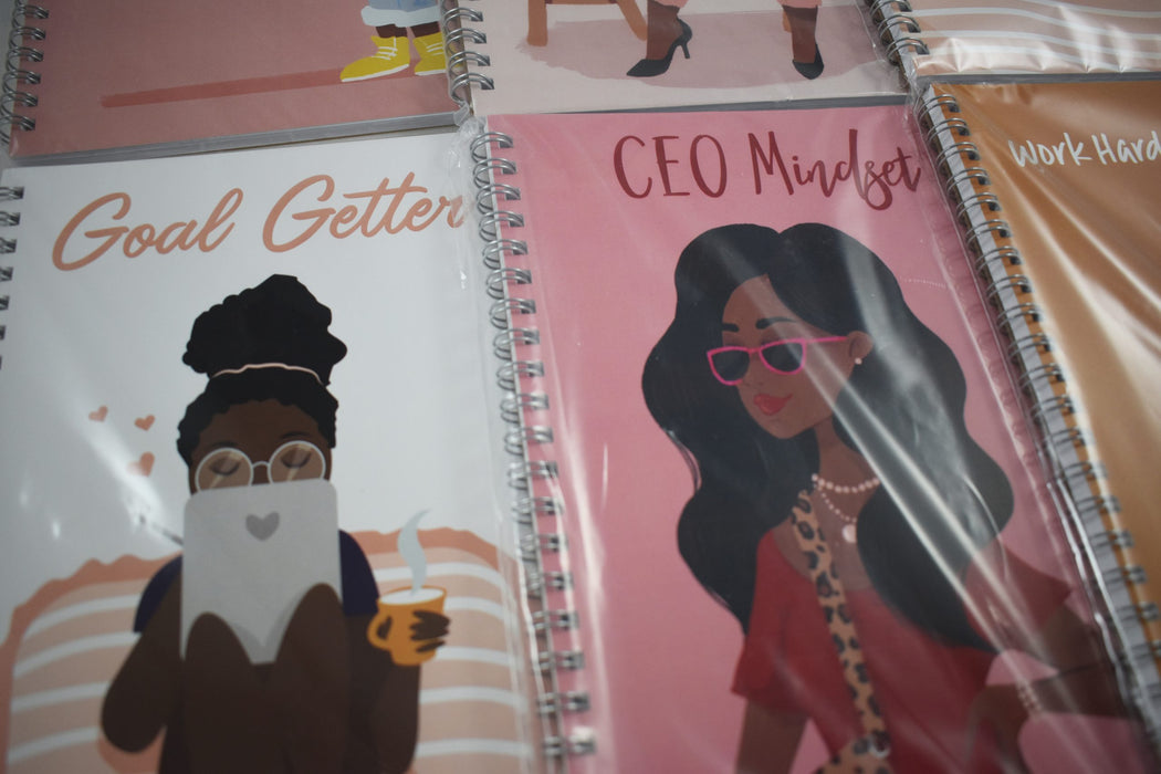 CEO Mindset Notebook - Bold Xchange black owned brand black owned gifts