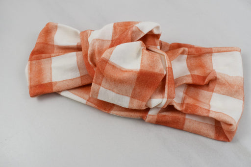 Pumpkin Spice Gingham Headband - Bold Xchange black owned brand black owned gifts