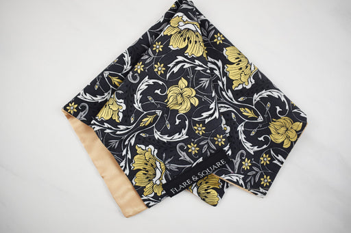 Black and Gold Pocket Square - Bold Xchange black owned brand black owned gifts
