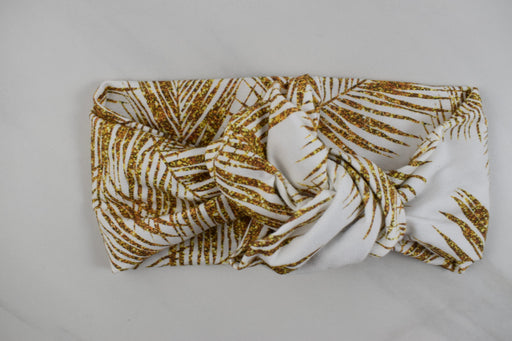 Golden Palm Leaves Headband - Bold Xchange black owned brand black owned gifts