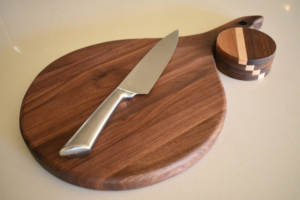 Wooden Cutting Board & Coaster Set - Bold Xchange black owned brand black owned gifts