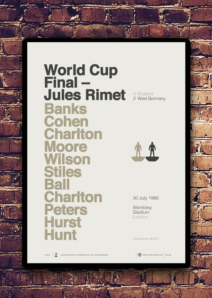 JULES RIMET 1966 - LIMITED EDITION SCREEN PRINT