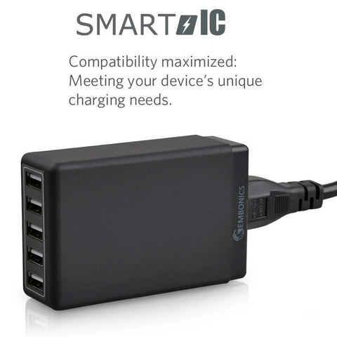 5 Port (8 Amps) Desktop USB Charger