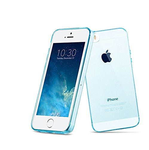 iPhone 5/5S Protective Case, Gembonics Slim Flexible TPU Case for iPhone 5 / 5S, Full Back and Side Shockproof - Blue