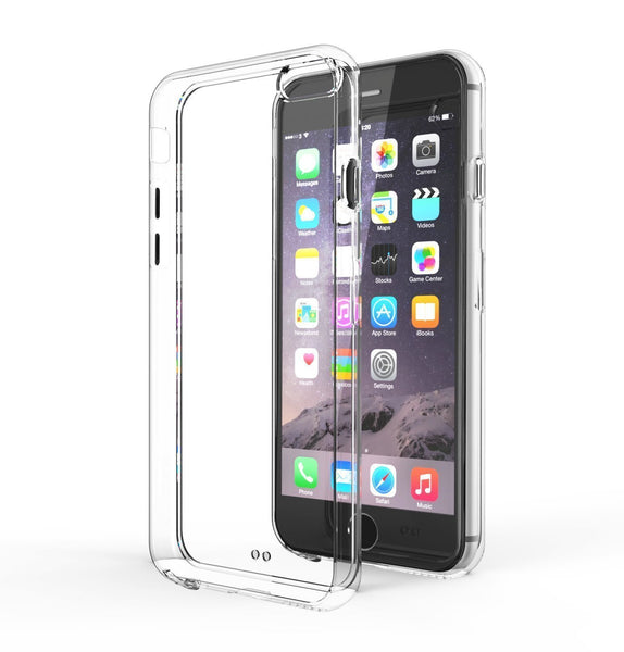 iPhone 6 Case, Gembonics iPhone 6 (4.7-inch) Case [0.4mm Crystal Clear] Shock-Absorption Bumper and Anti-Scratch Clear -  TPU Transparent Skin Scratch-Proof Case for iPhone 6 (4.7 inch) (2015) - Feels Like Nothing There - Crystal Clear