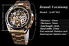 Transparent stainless Steel Skeleton Luxury Design Men Watch