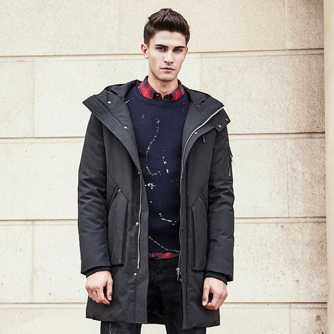 Thick winter Long down jacket