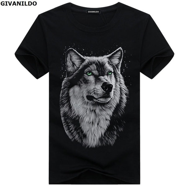 Givanildo Wolf Casual 3D Printed T-Shirt
