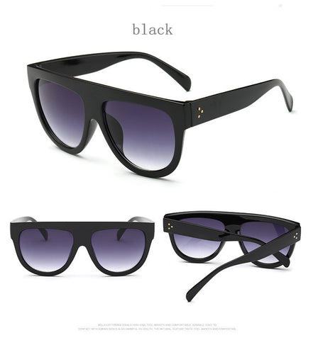 Flat Top Mirror Cat Eye Sunglasses UV400