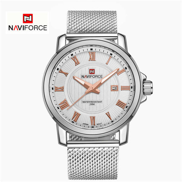 NAVIFORCE Luxury  Stainless Steel Belt  Wrist watch