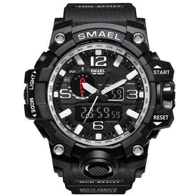SMAEL Mens Dual Display Military wristwatch