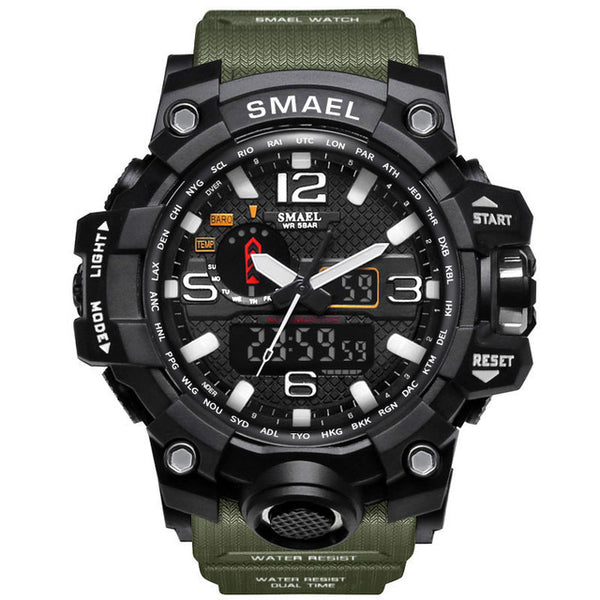 High-Quality SMAEL 50m Waterproof  LED Wristwatch