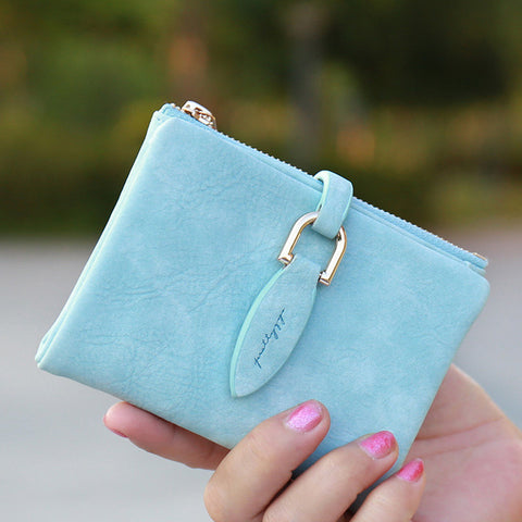 Prettyzys Snap Fastener Clutch Wallet & Coin Card Holder