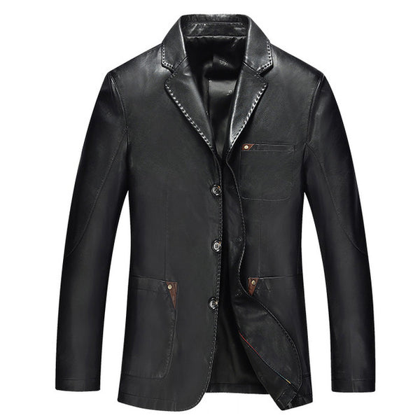 genuine leather coat jacket