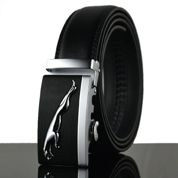 WOWTIGER Automatic Alloy  Buckle Leather Belt for men