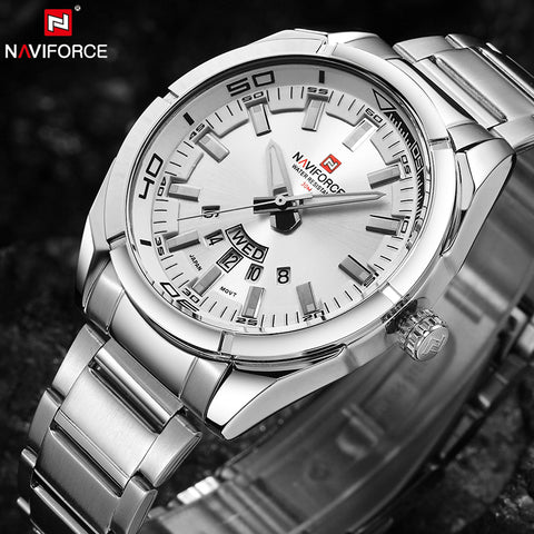 NAVIFORCE Men's Stainless Steel Auto Date Wristwatch
