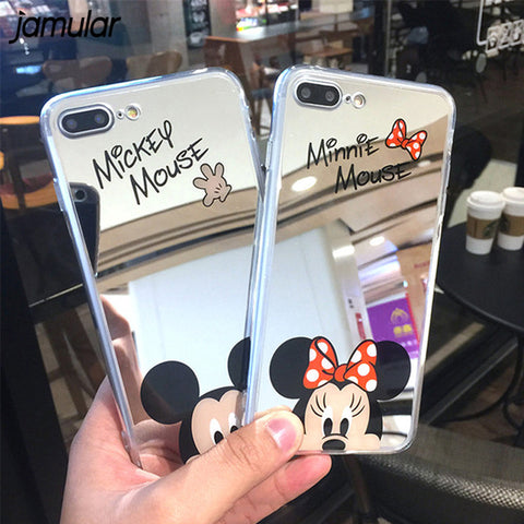 mirror cartoon iphone case